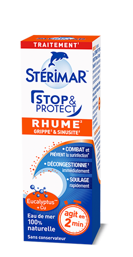 packaging Stop & Protect rhume, grippe et sinusite - stérimar