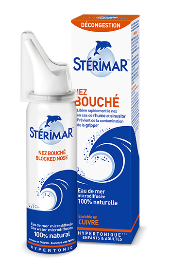 spray nasal nez bouché et packaging - stérimar